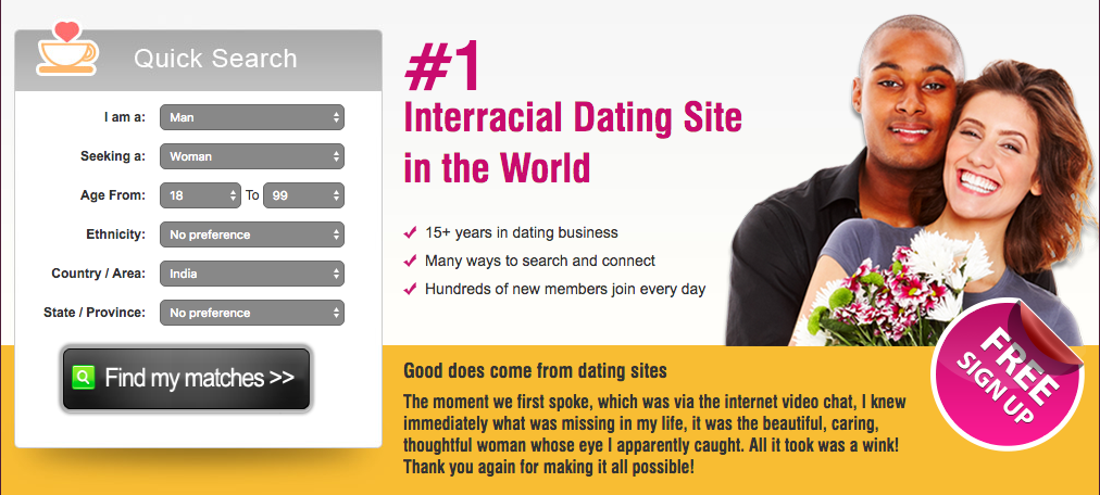 Interracial dating sites match